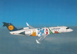 Lufthansa 40th Anniversary Special Paint Job On Jet Airplane C1990s Vintage Postcard - 1946-....: Moderne