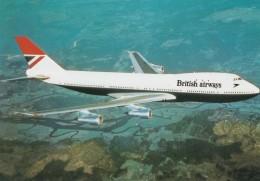 British Airways Boeing 747 Jet Airplane In Flight C1970s Vintage Japanese Postcard - 1946-....: Moderne