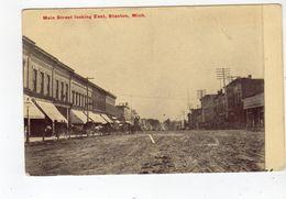 STANTON, Michigan, USA, Both Sides Of Main Street & Stores, 1912 Canaan Postcard - Etats-Unis