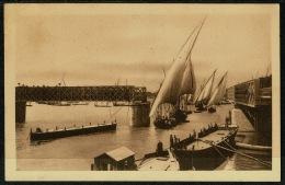 RB 1201 - Early Postcard - The Kasr-el-Nil Bridge Open - Cairo Egypt - Cairo