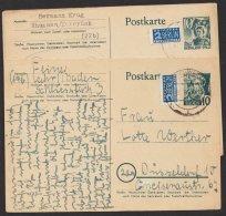 """Mi-Nr. P2, """"Baden"""", """"Pfalz"""" Und Württemberg"""", Je Bedarfskarte, O - Französische Zone"""