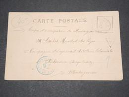 MADAGASCAR - Carte Postale De Saint Denis De La Réunion Pour Militaire à Diégo Suarez En 1903 , Taxé - A Voir - L 14564 - Réunion (1852-1975)