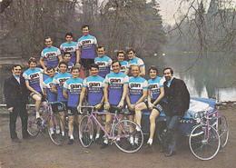 Carte Publicitaire Sport Cyclisme Equipe GAN-MERCIER Radsport Cycling Coureurs Cyclistes POULIDOR / GUIMARD / 2 Scans - Cyclisme