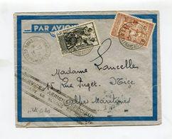 """!!! PRIX FIXE: LETTRE PAR AVION 22/12/1941 GRIFFE """"SERVICES AERIENS SPECIAUX PENDANT LE BLOCUS DE DJIBOUTI"""" PILOTE CODOS - Lettres & Documents"""