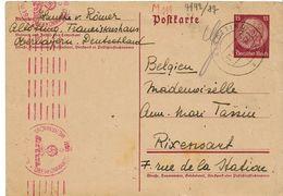 ENTIER POSTAL DE ALTOTTING Pour La Belgique - Briefe U. Dokumente