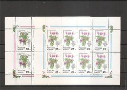 Russie - Fleurs ( 5990/5991 En Feuilles XXX -MNH) - Blocs & Feuillets
