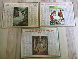 Almanachs Des PTT 1937 à 1939 - Calendars