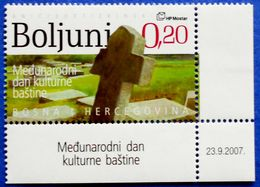 CROATIA BOSNIA AND HERZEGOVINA HERCEG BOSNA MOSTAR INTERNATIONAL DAY OF CULTURE BOLJUNI 2007 - MNH - WITH DATE ON EDGE - Bosnia And Herzegovina