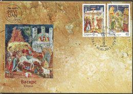 SRB 2013-493-4 ESTER, SERBIA, FDC - Ostern