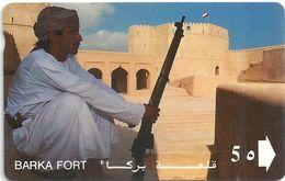Oman - Barka, Omani Forts - 9OMNB - 1992, 295.800ex, Used - Oman