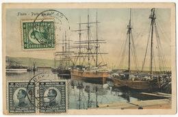 Fiume Rijeka Porto Baross  3 Stamps Used Bakar Rudolf Matzke R.E.C.P. Deltiology Edit Stengel Color One Small Cut - Croatie