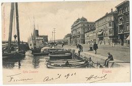 Fiume Rijeka Riva Szapary  Edit Stengel Berlin Used From Fiume Hungary 1902 To Marcilly Le Hayer Aube - Croatie