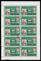 FOGLIETTO (n° 10 Francobolli): 1965 INTERNATIONAL CO-OPERATION YEAR (Canceliere Ludwig Erhard - Germania) - Sharjah 1965 - Celebrità