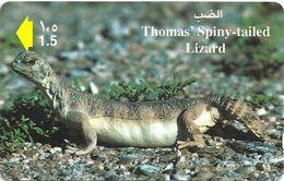 Oman - Thomas Spiny Tailed Lizard, 44OMNK, 1999, 350.000ex, Used - Oman