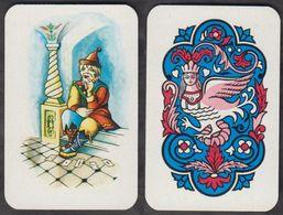 Russia USSR Solitaire Cards Joker 1 Item Abt 4.5 X 7 Cm. - Cartes à Jouer Classiques