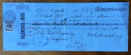 CAMBIALE VALENTINER & MUES MILANO 1870  DI 83,77 LIRE   CON INTERESSANTI  FIRME E MARCHE DA BOLLO - Cambiali