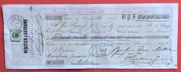 CAMBIALE 1869 PARIS HERITIER & GUIRAND 2000 FR. ORO  CON FIRME AUTOGRAFE E MARCHE DA BOLLO - Cambiali