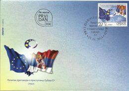 SRB 2014-538 SERBIA IN EU, SERBIA, FDC - Serbien