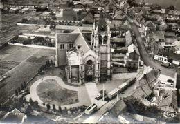CPSM Dentellée - ANNOEULLIN (59) - Vue Aérienne Du Quartier De L'Eglise St-Martin En 1964 - France