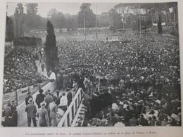 Match De Boxe à ROME  En 1933  CARNERA PAULINO  Place De Sienne Roma Italia - Vieux Papiers
