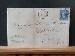 75/377    LETTRE AVEC CONTENU G.C. 549 BOULOGNE SUR MER  1860 - Marcophilie (Lettres)