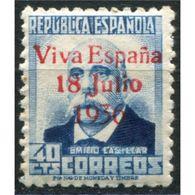 """C05715 - Santa Cruz De Tenerife, Sobrecarga Patriótica, """"Viva España 18 Julio 1936"""" [R] Sobre 40c, Edifil 43, * - Emisiones Nacionalistas"""