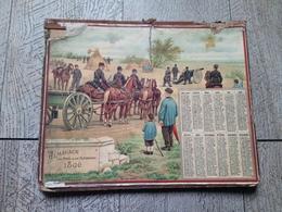 Calendrier Almanach Des Postes Des Télégraphes 1896 En Batterie Militaire - Calendars
