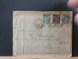 75/385    LETTRE DE LES SABLES DE OBLONNE  1895 TRICOLORE - 1876-1898 Sage (Type II)
