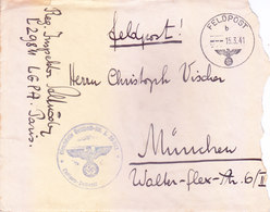GERMANY : 1941 MILITARY MAIL COVER WITH CENSOR MARKING : POSTED FROM FELD POST B : WITH HAND WRITTEN LETTER SHEETS - Deutschland