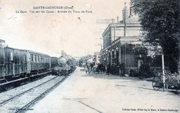 Cpa (61)--sainte-gauburge La Gare Vue Sur Les Quais Arrivèe Du Train De Paris - Sonstige Gemeinden