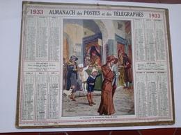 Calendrier Almanach Des Postes Des Télégraphes 1933 Les Marchands De Parfum Des Souks De Tunis Beuzon - Calendars