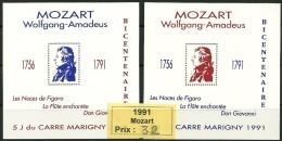 Blocs Marigny 1991   Wolfgang Amadeus MOZART - Autres
