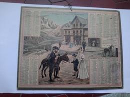 Calendrier Almanach Des Postes Des Télégraphes 1909 Départ Pour L'excursion Montagne - Calendars