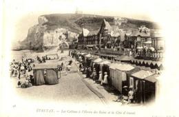 76 ÉTRETAT - Les Cabines à L'Heure Des Bains Et La Côte D'Amont - Carte Précurseur - Collection ND Phot. - Etretat