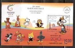 India 2008 DELHI 2010 - XIX Commonwealth Games Tiger Mascot Emblem M/s Inde Indien - Games