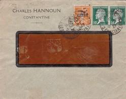 COMMERCIAL ENVELOPE. CHARLES HANNOUN CONSTANTINE. REPUBLIQUE FRANÇAISE. ALGERIE-TBE-BLEUP - Algerije (1962-...)