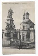 TORINO - PIAZZA CARLO EMANUELE II E MONUM. A CAVOUR 1925  VIAGGIATA FP - Non Classificati