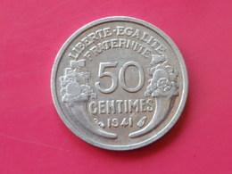 France  50 Centimes  1941  Morlon Legere    KM#894.a  Aluminium TTB - France