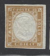 Italia - Sardegna - 1855/63 - Nuovo/new MH - Effige Re - Sass N. 14E - Sardaigne