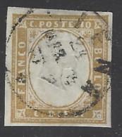 Italia - Sardegna - 1855/63 - Usato/used - Effige Re - Sass N. 14E - Sardinia