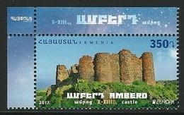 "ARMENIA/ ARMENIE/ ARMENIEN -EUROPA-CEPT 2017-""CASTILLOS - CASTLES - SCHLÖSSER""- SERIE De 1 V. - A - 2017"