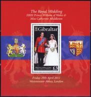 Gibraltar 2011  Yvertn° Bloc 102    ***  MNH Cote 11 Euro  Mariage Wedding Prince William - Gibraltar