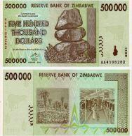 Zimbabwe (2008)   -   500 000 Dollars  - P 76  UNC - Zimbabwe