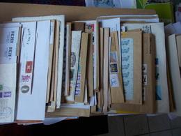 BON LOT + De 140 LETTRES DE NEGOCIANTS EN TP FRANCS EUROS TVP MIXTES BLOCS BANDES CARNETS Voir Fotos - Marcophilie (Lettres)