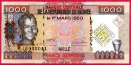 510-Guinée Billet De 1000 Francs 2010 LB960 Commémoratif Neuf - Guinée