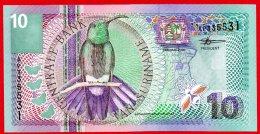 510-Surinam Billet De 10 Gulden 2000 AP335 Neuf - Surinam