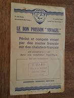 Pub - Vivagel - Poisson Congelé Vivant - Marins Et Chalutiers Français - Tampon F. Allais à Tonnerre - Publicités