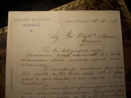 Tortolì  (Nuoro)- 1898 - Antica Fattura Con Bella Intestazione - Sardegna - Pubblicità - Italia