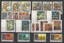 1990 Vaticano Vatican GIOVANNI PAOLO II ANNATA  YEAR: 6 Serie Usate Con Aerea USED - Annate Complete