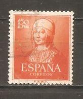 España/Spain-(usado) - Edifil  1095  - Yvert  814 (o) (defectuoso) - 1951-60 Usados